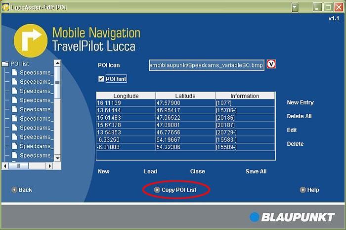 blaupunkt travelpilot lucca 3 5 mise jour radars pour vos cartes t l charger mise jour. Black Bedroom Furniture Sets. Home Design Ideas